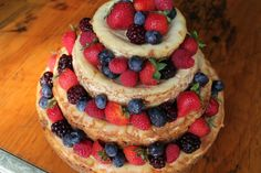 4-tiered Cheesecake tower! Perfect for parties and weddings.