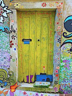Bright arty door