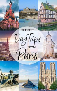 The Best Day Trips from Paris France : If you're heading to Paris and have a few extra days, get out of the city for a while and discover what France has to offer outside the city of lights. These ten day trips from Paris are our favorite! Paris Travel Tips, Europe Travel Tips, European Travel, Travel Destinations, Travel Bag, Paris France Travel, Girl Travel, Fun Travel, Shopping Travel