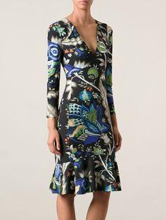 Roberto Cavalli Flower Print Dress - Boutique Mantovani - Farfetch.com