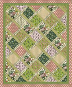 """Anna Griffin Palmer Weave Quilt Pattern 48""""x 60"""""""