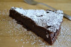 This gluten free flourless Belgian Chocolate Cake is one of the easiest desserts I make ~ it has a thin crisp crust and an impossibly silky chocolate interior! Flourless Chocolate Cakes, Gluten Free Chocolate, Chocolate Desserts, Chocolate Lava, Chocolate Butter, Chocolate Heaven, Easy Desserts, Delicious Desserts, Dessert Recipes