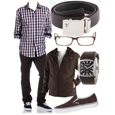 Chrome Mission Belt in Brown by kristinmadsen on Polyvore featuring KR3W, CO, Dickies and Diesel