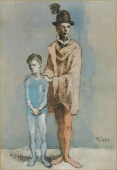 Pablo Picasso. Acrobat and young arlequin3. 1905 year
