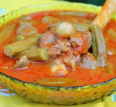 """Okra stew. From: """"In my Iraqi Kitchen: Recipes, History and Culture,"""" by Nawal Nasrallah"""
