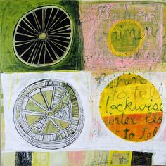 Reinventing the Wheel by Barbara Gilhooly (Acrylic Painting) | Artful Home