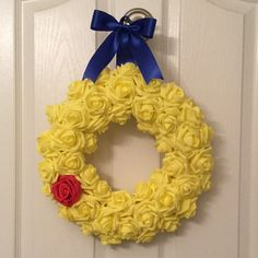 SALE 12 inch Beauty and the Beast Inspired Wreath