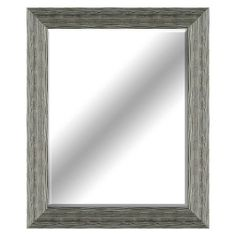 22 X 28-in Distressed Light Wood Beveled Mirror
