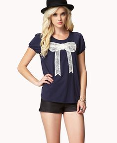 Lace Bow Top | FOREVER 21 - 2047680876