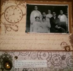12x12 layout with vintage photo from 1905