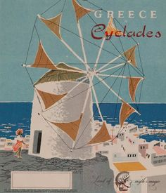 Vintage Travel Poster - The Cyclades - Greece.