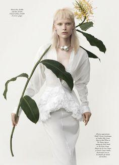 """The White Album"" Henna Lintukangas by Georges Antoni for Harper's Bazaar Australia"
