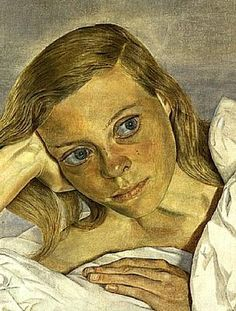 Girl in Bed, oil on canvas, 30.5 x 45.7cm, Lucian Freud 1952 (44) private collection
