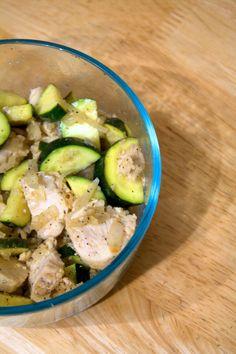 Lemon Zucchini Chicken: Clean, fast, high protein meal!
