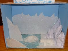 So Cowgirl had to make a diorama for school. They are learning about arctic animals, and each student had an animal that they were to resear...