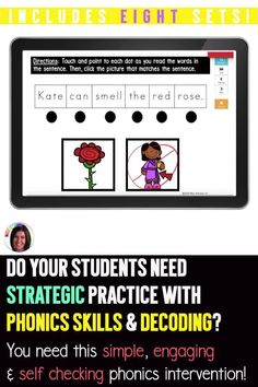 Comprehension Exercises, Reading Comprehension Skills, Reading Lesson Plans, Reading Lessons, Early Years Teaching, Reading Binder, E Words, Long Vowels, Reading Intervention