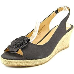 Karen Scott Womens Dashy Platform Wedge Sandals Black Size 95 >>> Click image to review more details.(This is an Amazon affiliate link and I receive a commission for the sales)