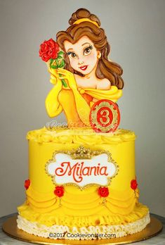 Belle, Beauty and the Beast Cake