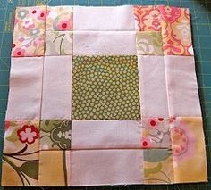 Reverse Magic Nine Patch or disappearing 9-patch variation quilt block. Sewn up by TeresaDownUnder