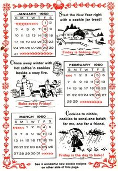 Betty Crocker's 1960 Pennsylvania Dutch Kitchen Calendar (page 1)
