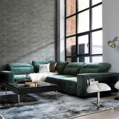 The Hampton sofa in forest green Napoli might be the ultimate cosy statement this season (and every season). Be spoilt with choice, customise with 100+ fabric and leathers.