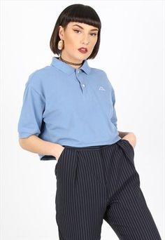 VINTAGE KAPPA CROPPED POLO SHIRT Polo Shirt Outfits, Polo Shirts, Polo Fashion, Fashion Outfits, Uniform Ideas, Aesthetic Women, Kappa, Daisies, Clothing Items