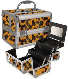 Seya Beauty Mini Makeup Train Case with Mirror (Leopard) Cosmetic Train Case, Makeup Train Case, Leopard Makeup, Professional Makeup Case, Mini Makeup, Glitz And Glam, Storage Organization, Organizing, Mirror