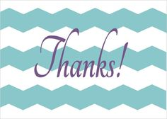 Free printable 5 x 7 thank you notecards