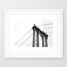 Brooklyn Bridge by Kevin Wong Photography  https://society6.com/product/brooklyn-bridge-8ru_framed-print?curator=andreajeanco