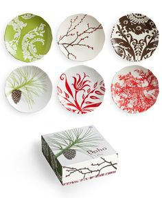 Six assorted patterns make these Botanical Dessert Plates the star of any party. Bohemian style art in bright colors mix and match with the mugs and teapot from the collection. Suited for adding to a white dinner service as well. * Set of 6 dessert plates in assorted patterns. 8.5″ diameter. * Porcelain * Dishwasher …