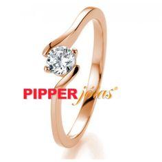 d4b9a1cb94fa0 Anel Solitário em Ouro Rosé 18k 750 com 1 Pedra Diamonic - AS1003