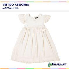 Vestido Abejorro de Mapamondo  es de organza drapeado y viene con detalles de strass en el pecho.Para conocer talles, colores y comprar ¡Hacé click en la imagen!