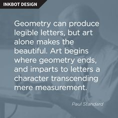 A great #graphic #design #quote from Paul Standard!