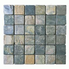 2x2 Slate Pea Mosaic Tile A American Custom Flooring 7777 N Caldwell Ave Niles