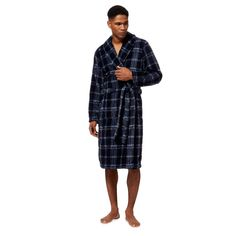 be8ca3d1a4 This dressing gown from Maine is a comfortable piece for the colder months.  Featuring a shawl neck
