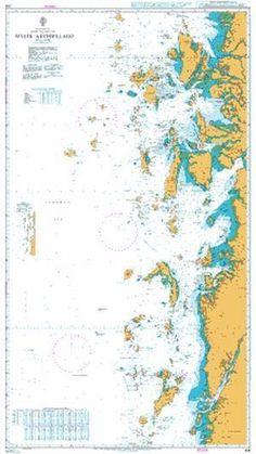 British Admiralty Nautical Chart 216: Myeik Archipelago