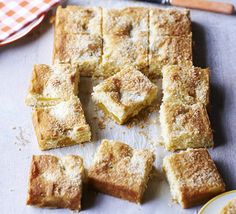 Mango Coconut Cake This thrifty tray bake sponge used canned fruit and coconut yogurt. Cut into squares and serve up at a party or cake sale Damien Rice, Bbc Good Food Recipes, Sweet Recipes, Yummy Food, Tray Bake Recipes, Dessert Recipes, Desserts, Cafe Recipes, Apple Traybake