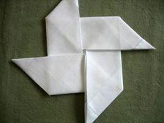 How to fold pinwheel napkins