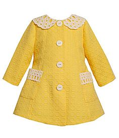 Bonnie Baby Infant Coat and Dress Set #Dillards  ahhhhh so stinking cute!!! need this for adelaide :)