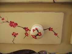 Hand Painted Cherry Blossom Sofa Table