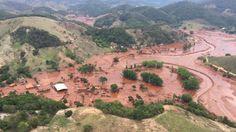 Barragens que se romperam pertencem à mineradora Samarco