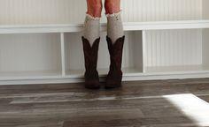 Women Mocha Boot Socks Womens Boot cuffs Womens by uptowngirlco