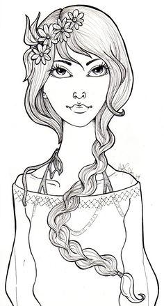 hippy dippy flower girl by ~catzilla on deviantART