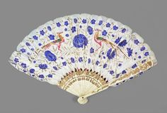 1815 to 1825 blue and white fan.