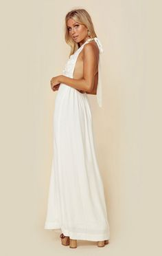 For Love And Lemons New Isabella Halter Maxi Dress