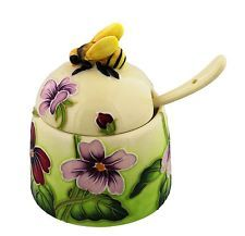 Old Tupton Ware PRIMROSE and BUTTERFLY Honey Pot Collectable GIFT Tupton