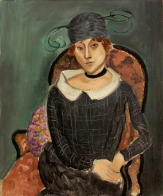 The Ostrich-Feather Hat, 1918 by Henri Matisse