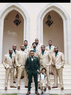 Impressive Wedding Photography Secrets And Ideas. Fabulous Wedding Photography Secrets And Ideas. Khaki Wedding, White Tuxedo Wedding, Green Wedding Suit, Tan Wedding Suits, Green Tux, Wedding Tuxedos, White Bridal, Rustic Wedding, Emerald Green Weddings