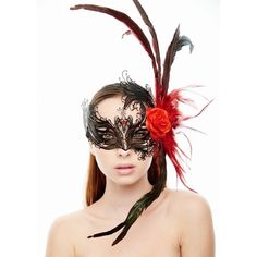 Exotic Laser Cut Crown with Crimson Feathers -Made with eco-friendly metal material. -Laser Cut -Beautiful Rhinestones design.  -One size fits most. -Perfect for masquerade balls, weddings, proms, parties, dances, music festivals, raves, Mardi Gras, etc. FBF003 Accessories