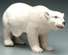 IMAGE: A papier-mache Polar Bear advertising display made by the Old King Cole Company of Canton, Ohio Paper Mache Clay, Paper Mache Crafts, Old King, Paper Magic, Paper Moon, Inspirational Artwork, Paperclay, Animal Heads, Decoration